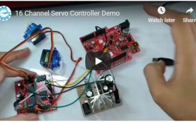 16-Channel Servo Controller Arduino Library