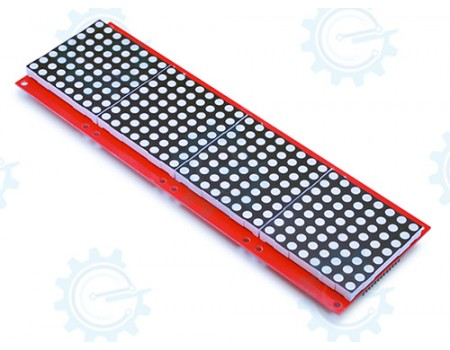 8x32 5mm dia Red LED Matrix Display