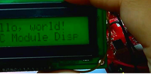 Using 2x16 LCD Module with I2C Interface Board on a gizDuino