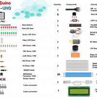 gizDuino LIN-UNO Starter Kit (with LCD Version)