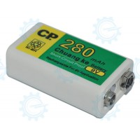 9V 280mAh Rechargeable Battery
