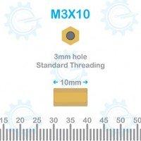 Brass Stud M3X10