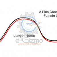 Female to Female 2-Pins Connecting Wire 40cm