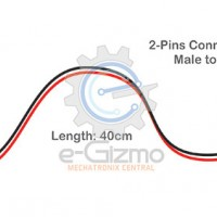 Male to Female 2-Pins Connecting Wire 40cm