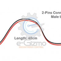 Male to Male 2-Pins Connecting Wire 40cm