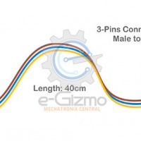 Male to Female 3-Pins Connecting Wire 40cm