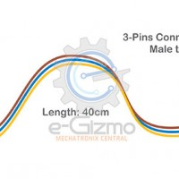 Male to Male 3-Pins Connecting Wire 40cm