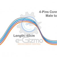 Male to Female 4-Pins Connecting Wire 40cm