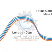 Male to Male 4-Pins Connecting Wire 40cm