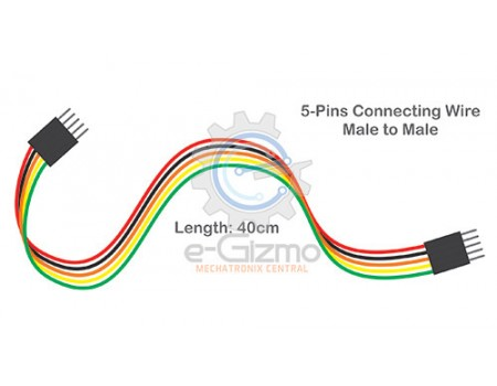 Male to Male 5-Pins Connecting Wire 40cm