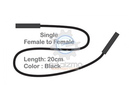 Female to Female Single Connecting Wire 20cm Black