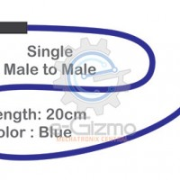 Male to Male Single Connecting Wire 20cm Blue