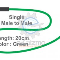 Male to Male Single Connecting Wire 20cm Green