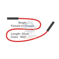 Female to Female Single Connecting Wire 20cm Red