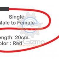 Male to Female Single Connecting Wire 20cm Red