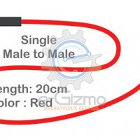 Male to Male Single Connecting Wire 20cm Red