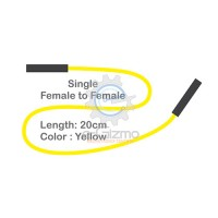 Female to Female Single Connecting Wire 20cm Yellow