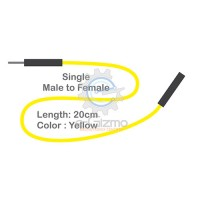 Male to Female Single Connecting Wire 20cm Yellow