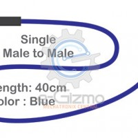 Male to Male Single Connecting Wire 40cm Blue