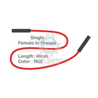 Female to Female Single Connecting Wire 40cm Red