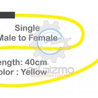 Male to Female Single Connecting Wire 40cm Yellow