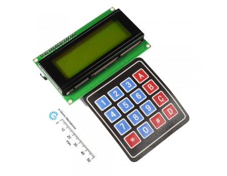 Serial LCD II 4X20 with Keypad 4X4 Function