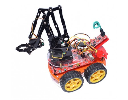 e-Bot  4WD Programmable Mobile Robot with e-Gra & PS2 Wireless Controller