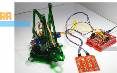 E-GRA Robot Arm with Keypad Controller Programming Example