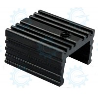 EHS-21 Aluminum Heatsink Black 15.2x17x10mm