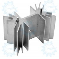 EHS-23 Fin type Aluminum Heatsink 42.2x26.5x25.2mm