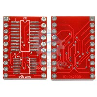 SOIC SSOP to DIP Adapter 20-Pin 600mils