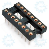 DIP IC Socket 16-Pins ( Hirel )