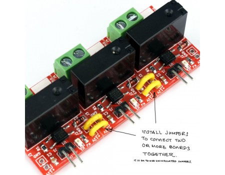 e-Gizmo 1 to 5 Channels Relay Module 12V Optoisolated Input