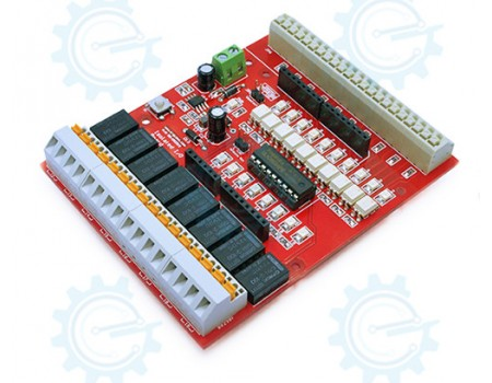 Isolated I/O Shield - Optoisolated Input dry Contact Relay Output