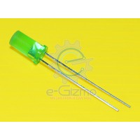 Green LED Flat Top 5mm