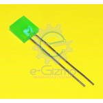 Green LED Square Type 2.5mm x 7mm x 7mm