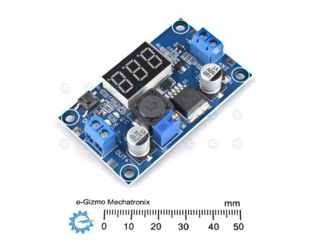 3A DC-DC Adjustable Step Down Converter with Voltmeter LM2596 Buck