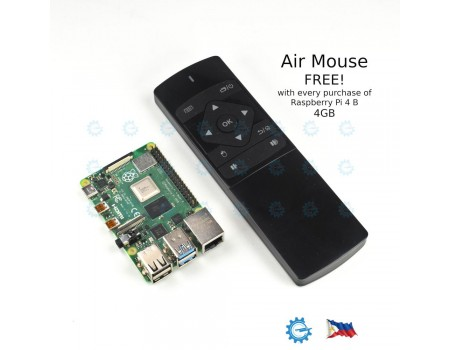 Raspberry Pi 4 4GB Model B with FREE Air Mouse