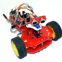 BatMobot Tri-Wheel Proportional Steering Robot Kit