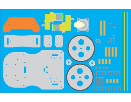 P-BOT Chassis (Disassembled)