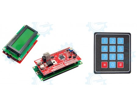 Serial LCD II 2X16 with Keypad 4X3 Function