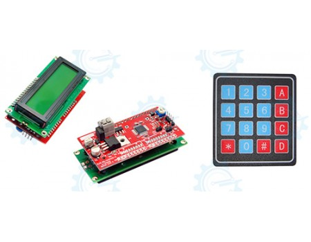 Serial LCD II 2X16 with Keypad 4X4 Function