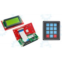 Serial LCD II 4X20 (MDLS40433) with Keypad 4X3 Function