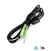 Audio Cable d3.5mm Stereo Plug Termination 1.52 Meters M/M RFI