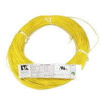 Hook up wire AWG26 Tinned Stranded Yellow (per Meter)