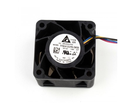 Delta 40x40mm FFB0412UHN-SM36 Axial Fan 12V 50,000RPM PWM Control and Speed Out