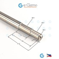 Stainless Shaft 301 d10 x 393mm Machined Ends ( Shafting Rod Round Bar )