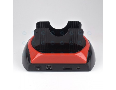 Two Bay SATA + IDE HDD Docking Station and Card Reader + Power Adapter USB2.0