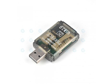 USB Card Reader 4-in-1 Micro SD/TF M2 MS/MS PRO Duo